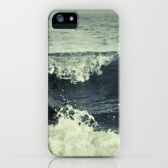 Summer waves. Retro. Blue. iPhone & iPod Case by Guido Montañés - $35.00