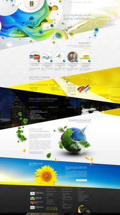 Main Page - Web Design Concept by Provoco for an Oil Rafinery in Slovakia