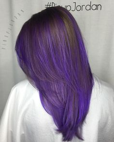 Brown And Purple Layered Hairstyle