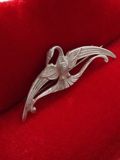 Your place to buy and sell all things handmade Phoenix Bird, Brooch Pin, Pearls, Sterling Silver, Stone, Earrings, Etsy, Accessories, Vintage