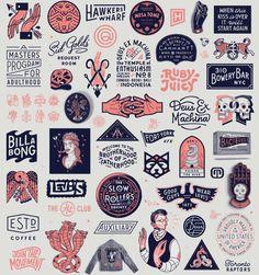 Creative Typography, Illustration, Iconography, and Badges image ideas & inspiration on Designspiration Creative Typography, Typography Logo, Hang Ten, Badge Logo, Ex Machina, Badge Design, Grafik Design, Photo Instagram, Design Reference
