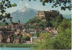 1 Used Postcard, Salzburg, Austria good shape by VintageNEJunk on Etsy Salzburg Austria, New England, Shapes, River, Store, Cards, Outdoor, Etsy, Outdoors