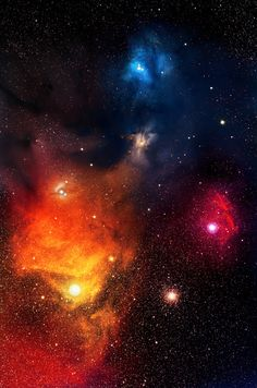 Deeper colors of Rho Ophiuchi Complex Nebula, great for a tattoo