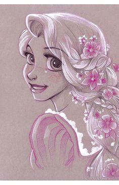 Toned Paper Rapunzel