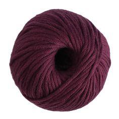 "Coton natura xl n°06 prune ""just cotton"" de dmc 100% coton"
