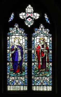 Willaim Morris & Co. Stained glass in Saint Mary's Church in South Walsham, England.