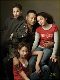 Love this pose...Terrence Howard and his children