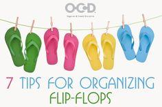 7 Tips For Organizing Flip-flops