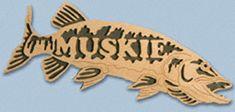 Wooden Fish - Muskie Project Pattern
