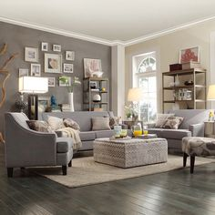 Living Room Furniture With Gray Walls