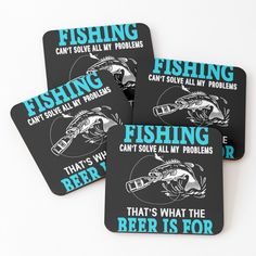 Fishing T Shirts, One Sided, Cold Drinks, Coasters, My Arts, It Is Finished, Art Prints, Printed, Awesome