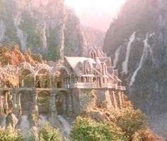 Rivendell. I know it's fictional, but I would love to live in a place like that.