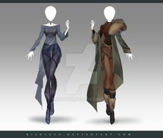 (OPEN) Adoptable Outfit Auction 212 - 213 by Risoluce on DeviantArt Dress Drawing, Drawing Clothes, Fashion Design Drawings, Fashion Sketches, Character Outfits, Character Art, Anime Dress, Fantasy Dress, Anime Outfits