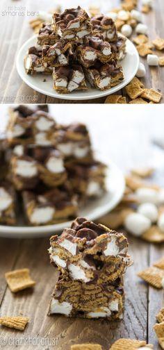 No Bake S'mores Bars | crazyforcrust.com