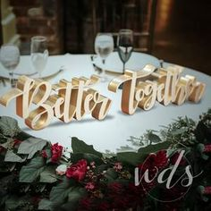 Sweetheart Table Decor Mr and Mrs sign Valentine Day Gift   Etsy Head Table Wedding Decorations, Head Table Decor, Wedding Chair Signs, Engagement Party Decorations, Rustic Wedding Signs, Wedding Chairs, Wedding Table, Wedding Ideas, Diy Wedding