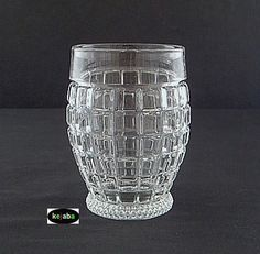 PATTERN NAME: VICTORIAN ALIAS NAMES: Blank 1425 CATAGORY: ELEGANT MANUFACTURER: HEISEY YEARS MADE: 1933 - 1953 PRIMARY COLORS: Crystal, Cobalt Blue, Yellow OTHER COLORS: Pink, Green Pattern offers bottles, bowls, butter dish, candlestick, compotes, creamer and sugar, punch cup, plates, relish, shaker, stems, trays, tumblers and vases plus several other pieces.