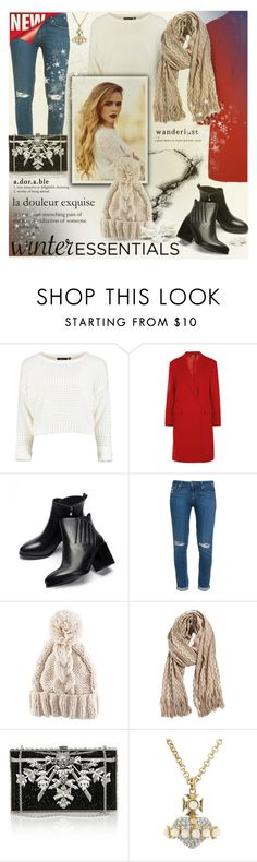 """""""Winter Essentials"""" by milica1940 ❤ liked on Polyvore featuring DKNY, JY Shoes, Paige Denim, H&M, Missoni, Judith Leiber, Mason's, Vivienne Westwood, Winter and winteressentials"""