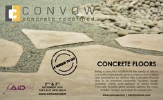 The wait shall be over sooner than expected for CONVOW Inc. to exhibit its concrete floors at FOAID Delhi, the festival of architecture and interior designing 2016 !!