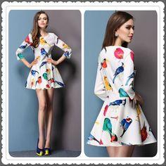 80TL beden:s/m/l/xl #kuş #desenli #elbise #ücretsiz #kargo #yurtdisi #alisveris #kadin #giyim #moda #fashion #new #yeni #sonbahar #yaz #trend #love ürün kodu:0067 #super