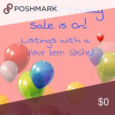 Posh Anniversary Sale All listings with a Balloon have been discounted. Still don't like the price, bundle and make an offer! xoxoxo Thanks Posh Anniversary Sale Other