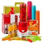 Smoothie kerstpakketten. Promotionele artikelen, premiums, gadgets, give-aways, relatiegeschenken, merchandising en promotioneel textiel.