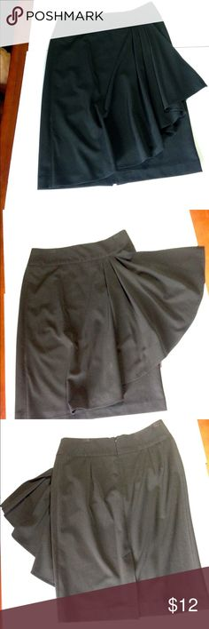 Awesome black skirt. Must have black skirt with zip up back. Great condition. Grace Elements Skirts Midi