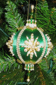 beaded satin christmas ornament kit neon ornaments pinterest christmas ornament ornament and beads
