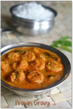 Indian shrimp/ prawn curry