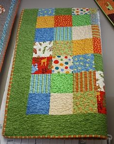 cute simple baby quilt. make this for my preggo friends.