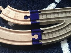 This is going to be very useful: Wood to Trackmaster Train Track Adapter by ex-nerd - Thingiverse