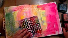 Quickie Art Journal Background