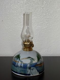 Signed Studio Art Pottery Kerosene Oil Lamp with Shade | eBay