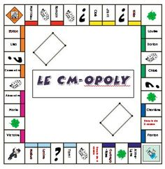 Un jeu pour faire connaissance : CM-OPOLY Core French, French Class, Cycle 3, Math Practices, Teaching French, Club, Classroom Management, Monopoly, Back To School