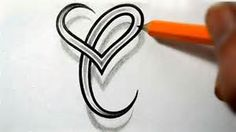 Initial C and Heart Combined Together - Celtic Weave Style - Letter ... Tattoo 0