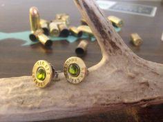 Green Machine 243 Bullet Earrings by SchurrShot on Etsy