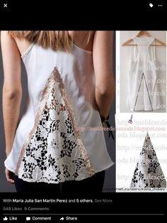After - befor refashion biby creations Couture tutorial Shirt Refashion, Diy Shirt, Umgestaltete Shirts, Tight Shirts, Diy Kleidung, Diy Vetement, Altering Clothes, Refashioning, Clothing Hacks