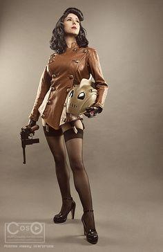 Bettie Page con el cosplay de Rocketeer Steampunk Cosplay, Steampunk Fashion, Gothic Steampunk, Steampunk Clothing, Victorian Gothic, Gothic Lolita, Gothic Fashion, Amazing Cosplay, Best Cosplay