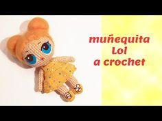 Muñecas amigurumi LOL - Patrones gratis Doll Amigurumi Free Pattern, Crochet Doll Pattern, Amigurumi Doll, Crochet Dolls, Crochet Baby, Crochet Patterns, Diy Presents, Lol Dolls, Crochet Videos