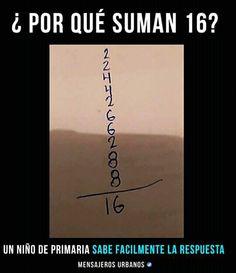 Porque 2 y 2 son 4 , 4 y 2 son 6 , 6 y 6 son 8 y 8 16 Short Horror Stories, Mexican Memes, Pinterest Memes, Funny Images, Jokes, Cool Stuff, Random, Wattpad, Anime