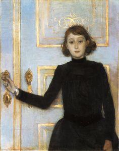 Portrait of Marguerite van Mons,  Theo van Rysselberghe (completed 1886) (Belgian; 1862-1926)