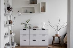 Bedroom ikea nordli drawers 63 ideas for 2019 Bedroom Closet Storage, Ikea Bedroom, Bedroom Organization, Bedroom Office, Chest Of Drawers Decor, Ikea White Chest Of Drawers, Storage Drawers, Nordli Ikea, Woman Bedroom
