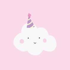 A cloud in a party hat, what is not to like? Illustration by Nutmeg and Arlo.