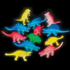 5.5-inch Glowing Dinosaurs (Bulk Pack of 12 Dinos) at theBIGzoo.com, a toy store with over 12,000 products.