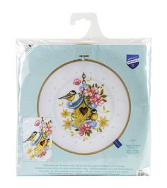 Vervaco Aida Counted Cross Stitch Kit-Our Bird House