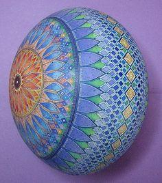 Pysanka, Pysanky ostrich egg by Artist Mark E Malachowski.