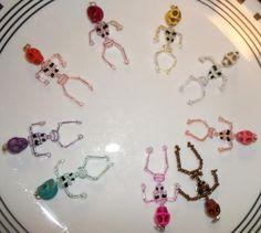 Skeleton Earrings you choose color