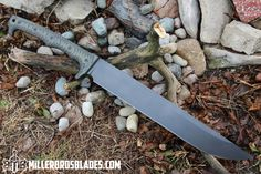 Miller Bros. Blades M-4S. This model is available in Z-Wear PM, CPM 3V, Z-Tuff PM and 5160 steels Miller Bros. Blades Custom Handmade Knives, Swords & Tomahawks.