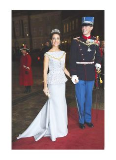 royalwatcher:  Princess Marie and Prince Joachim attend the New Year's Reception, January 1, 2014.