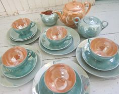 Noritake Lusterware Made in Japan | 1950's. Lusterware, Tea Set, Ha nd Painted, Made in Japan, Luncheon ...