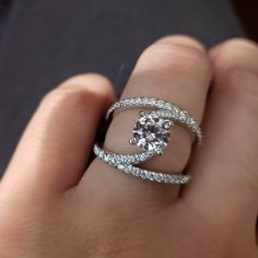 We love Gabriel and Company! So many beautiful and unique settings to choose from! 💓💎 ordered in your favorable color, whether its yellow, rose or platinum! Galleria Mall, Unique Settings, Our Love, Gabriel, Heart Ring, White Gold, Wedding Rings, Autumn, Engagement Rings
